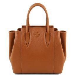 Tulipan Leather handbag Cognac TL141727