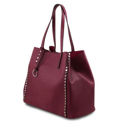 TL Bag Borsa shopping in pelle morbida Bordeaux TL141735