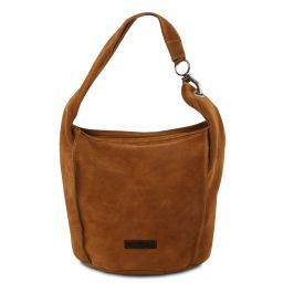 TL Bag Borsa a spalla in pelle scamosciata Cognac TL141754