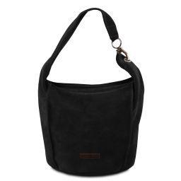 TL Bag Borsa a spalla in pelle scamosciata Nero TL141754