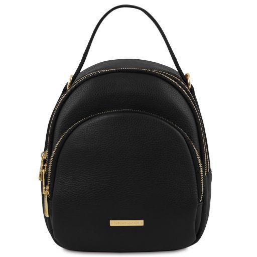 TL Bag Damenrucksack aus Leder Schwarz TL141743