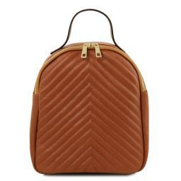 TL Bag Leather backpack for women Cognac TL141737