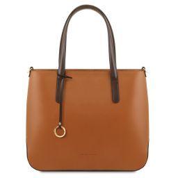 Penelope Borsa shopping in pelle Cognac TL141791