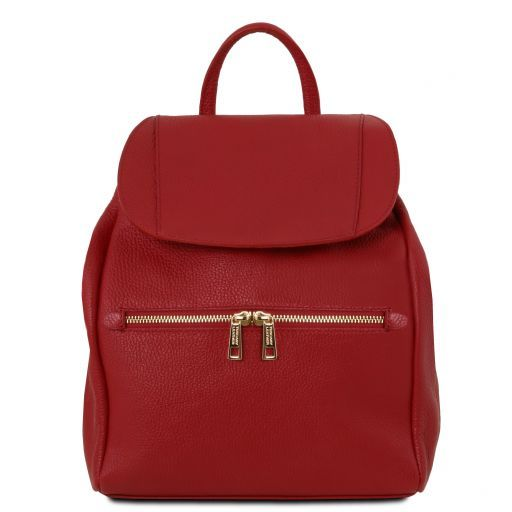 TL Bag Soft leather backpack for women Red TL141697