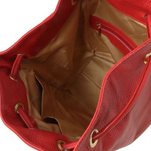 TL Bag Zaino donna in pelle morbida Rosso TL141697