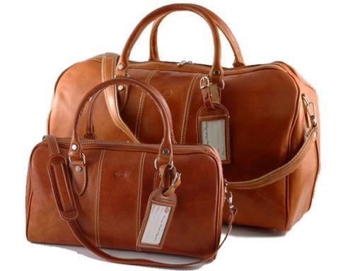Metropolitan Juego de maletas en piel Miel TL10174