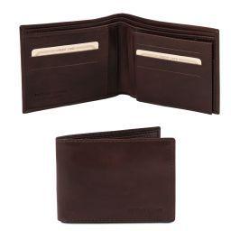 Esclusivo portafoglio uomo in pelle 3 ante Testa di Moro TL140817
