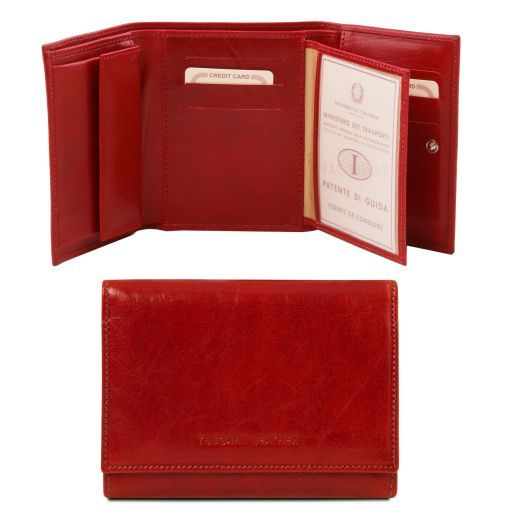Exclusive leather wallet for women Red TL140790