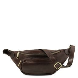 Leather fanny pack Dark Brown TL141797