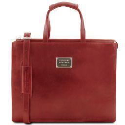 Palermo Cartella in pelle da donna 3 scomparti Rosso TL141343