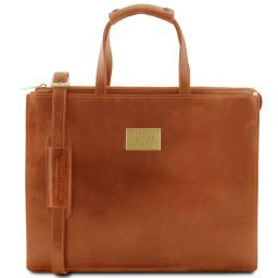 Palermo Leather briefcase 3 compartments for woman Мед TL141343