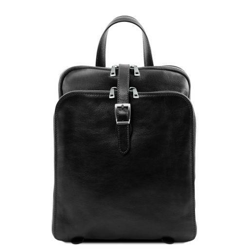 Taipei Кожаный рюкзак с 3 отделениями Черный TL141239
