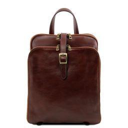 Taipei Кожаный рюкзак с 3 отделениями Коричневый TL141239