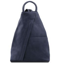 Shanghai Leather backpack Dark Blue TL140963