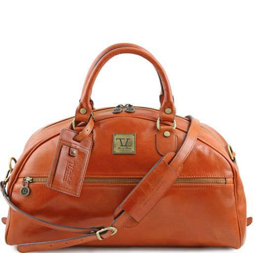 TL Voyager Travel leather bag- Small size Honey TL141244