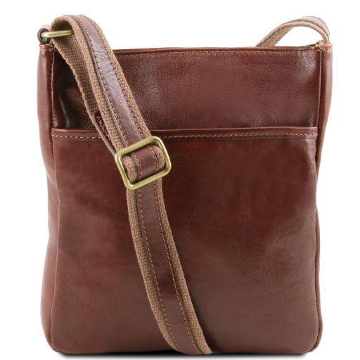 Jason Leather Crossbody Bag Brown TL141300