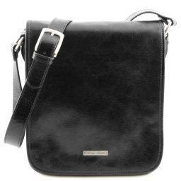 TL Messenger Кожаная сумка на плечо с 2 отделениями Черный TL141255