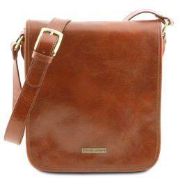 TL Messenger Two compartments leather shoulder bag Honey TL141255