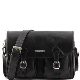 San Marino Herrentasche aus Leder Schwarz TL10180