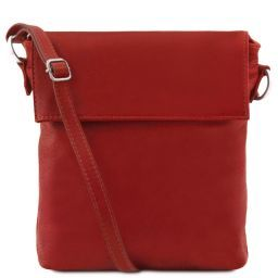 Morgan Leather shoulder bag Red TL141511