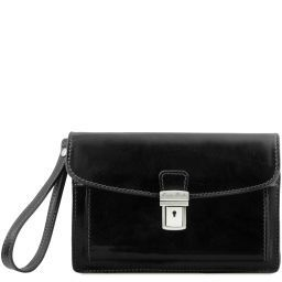 Max Leather handy wrist bag Black TL8075