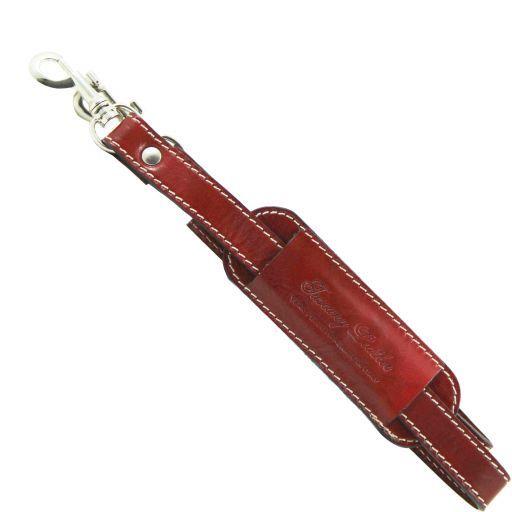 Bandolera ajustable en piel para bolsos de viaje Rojo SP141028