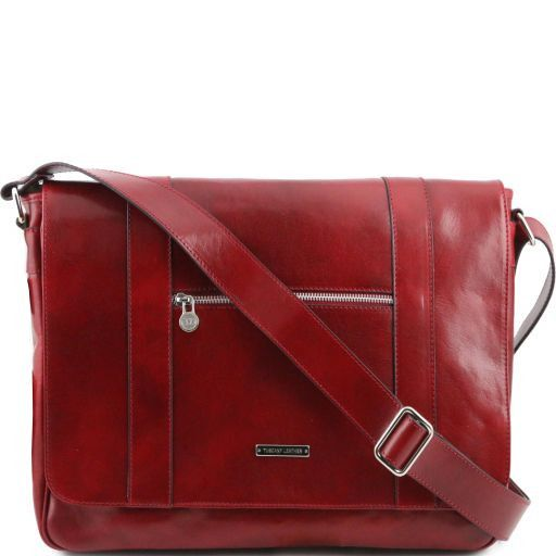 TL Dynamic Borsa business in pelle con zip frontale Rosso TL141252