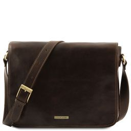Messenger double Freestyle - Borsa in pelle Testa di Moro TL90475