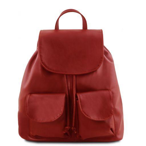 Seoul Zaino in pelle morbida - Misura grande Rosso TL141507