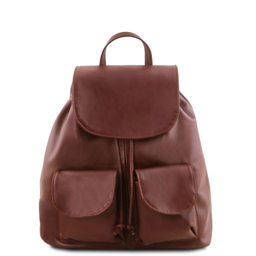 Seoul Leather backpack Small size Brown TL141508