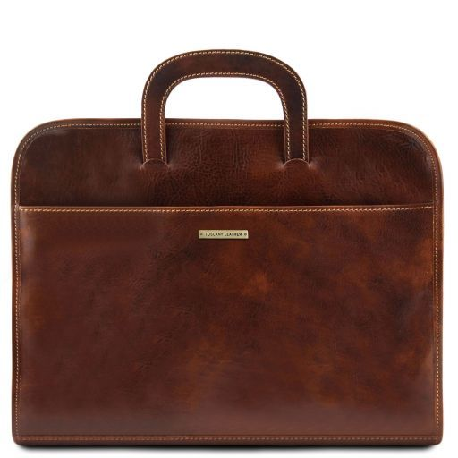 Sorrento Document Leather briefcase Brown TL141022