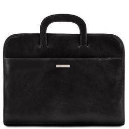 Sorrento Serviette Porte-documents en cuir Noir TL141022
