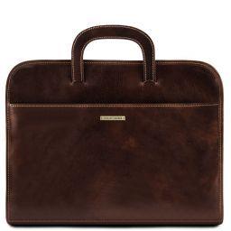 Sorrento Document Leather briefcase Dark Brown TL141022