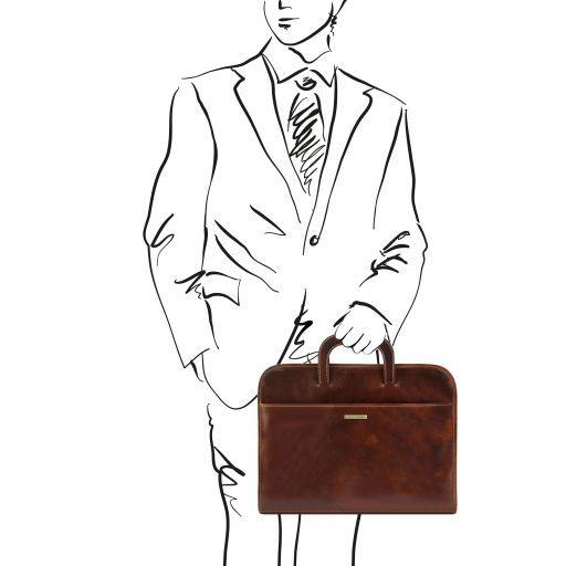 Sorrento Serviette Porte-documents en cuir Marron TL141022