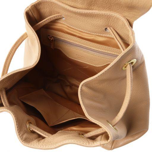 TL Bag Zaino donna in pelle morbida Champagne TL141697