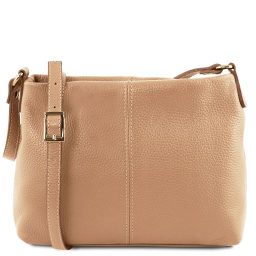 TL Bag Soft leather shoulder bag Champagne TL141720