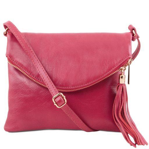 Bag shoulder bag shoulder bag soft leather bag messenger bag cyan