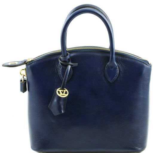 TL Bag Borsa shopper in pelle - Misura piccola Blu scuro TL141264