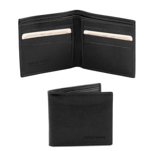 Elegante cartera de señor en piel Negro TL140797