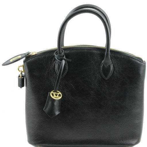 TL Bag Leather tote - Small size Black TL141264