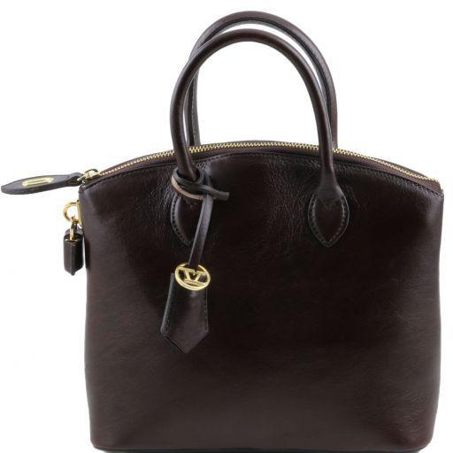 TL Bag Borsa shopper in pelle - Misura piccola Testa di Moro TL141264