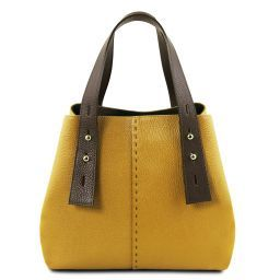 TL Bag Borsa shopping in pelle Senape TL141730