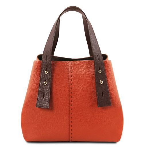 TL Bag Bolso shopping en piel Brandy TL141730