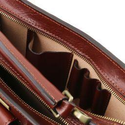Tania Borsa a mano in pelle da donna - Misura grande Rosso TL141269