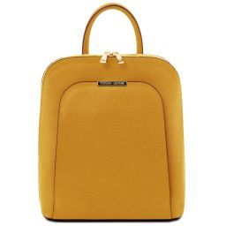 TL Bag Saffiano leather backpack for women Mustard TL141631