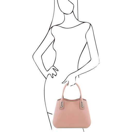 Flora Handtasche aus Leder Ballet Pink TL141694