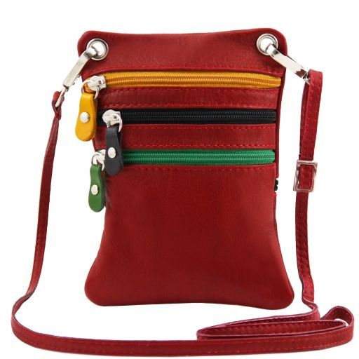 TL Bag Bolsillo unisex en piel suave Rojo TL141094