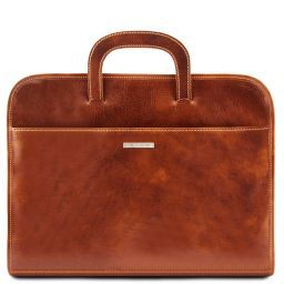 Sorrento Document Leather briefcase Honey TL141022