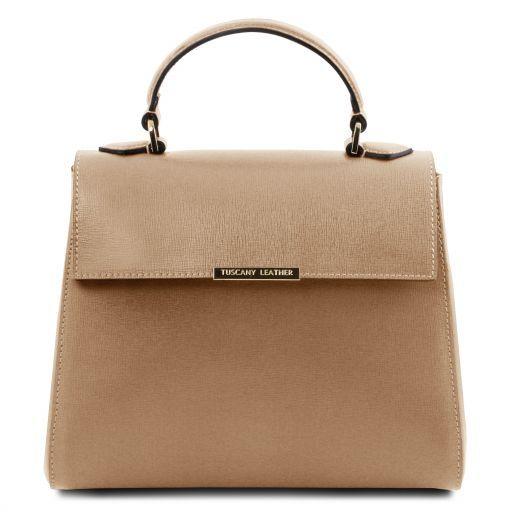 TL Bag Bauletto piccolo in pelle Saffiano Caramello TL141628