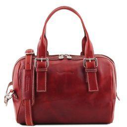 Eveline Leather duffle bag Красный TL141714
